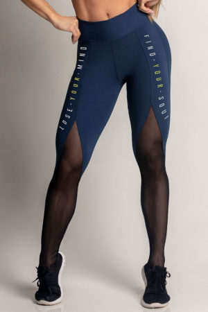 Legging Dream Fitness Navy Blue with tulle