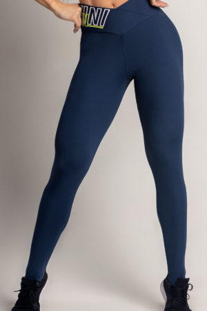 Legging Dream Fitness Navy Blue with Zig