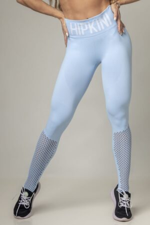 Legging Party Fitness Seamless Light Blue
