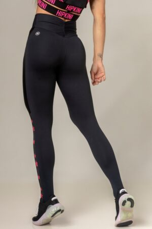 Black Fitness Legging Party with Stars Print
