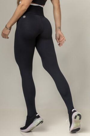 Black Fitness Party Legging with Waistband