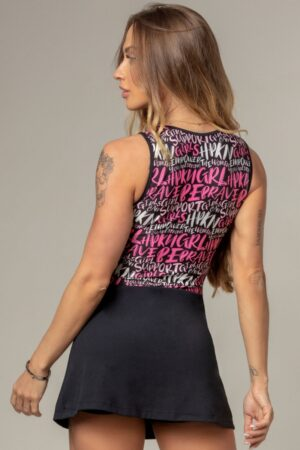 Party Fitness Romper with Pink Print