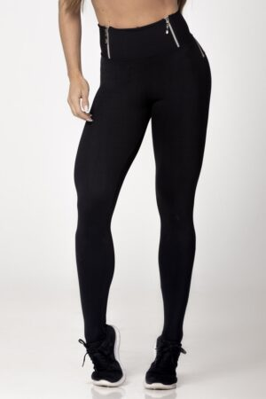 Black Fitness Light Legging with Pink