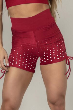 Shorts Party Fitness Marsala with Pucker