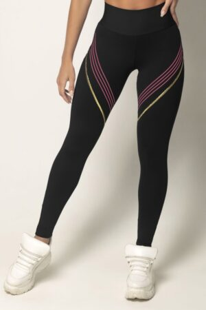 Legging Vict Fitness Blue with Gold