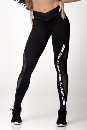 Black Fitness Light Legging with Cirrê